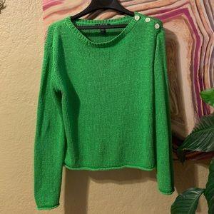 Ralph Lauren lime green long sleeve knit sweater L